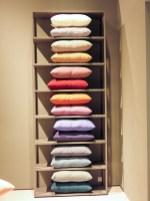 HAY A shelf full of pillows