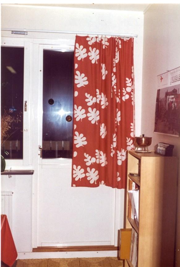The door to the balcony.