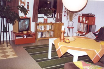 Early days. Had not yet created a work-corner there.
