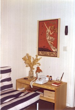 The poster on the wall is still around. Nowadays properly framed.