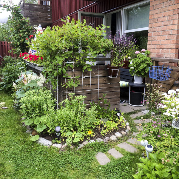 garden, patio, greenery