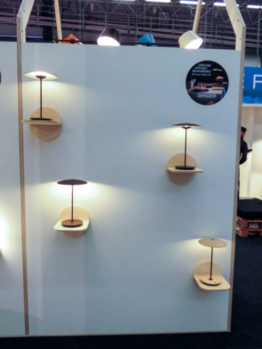 Small wireless lamps.