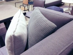 Crocheted pillows.