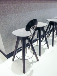 Bar stools with back-support.