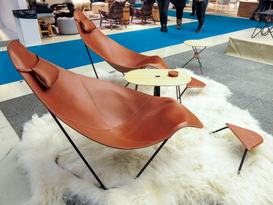 Not a butterfly chair but similar idea