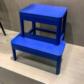 Someone has looked too close on the similar stool from Ikea I would say…