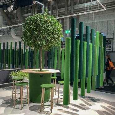 Green conference corner.