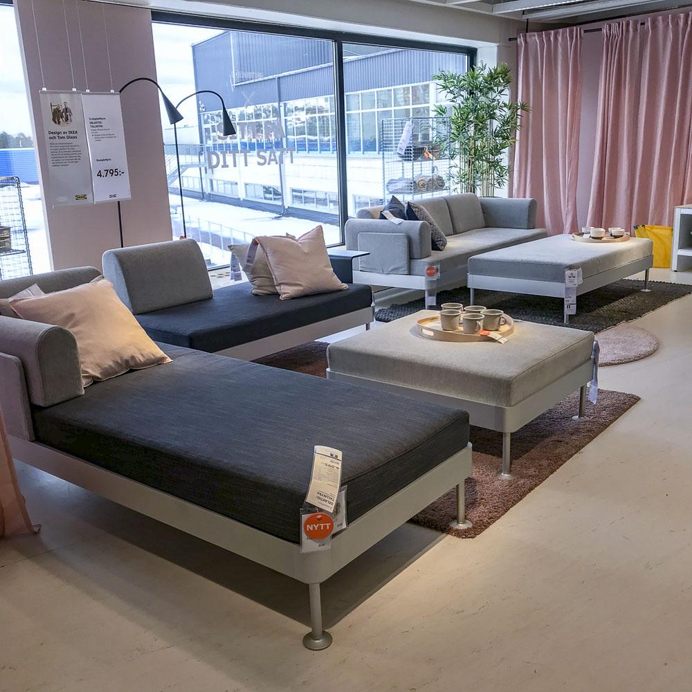 sofa, ikea, delaktig