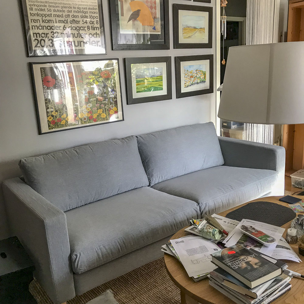 sofa, ikea, karlstad