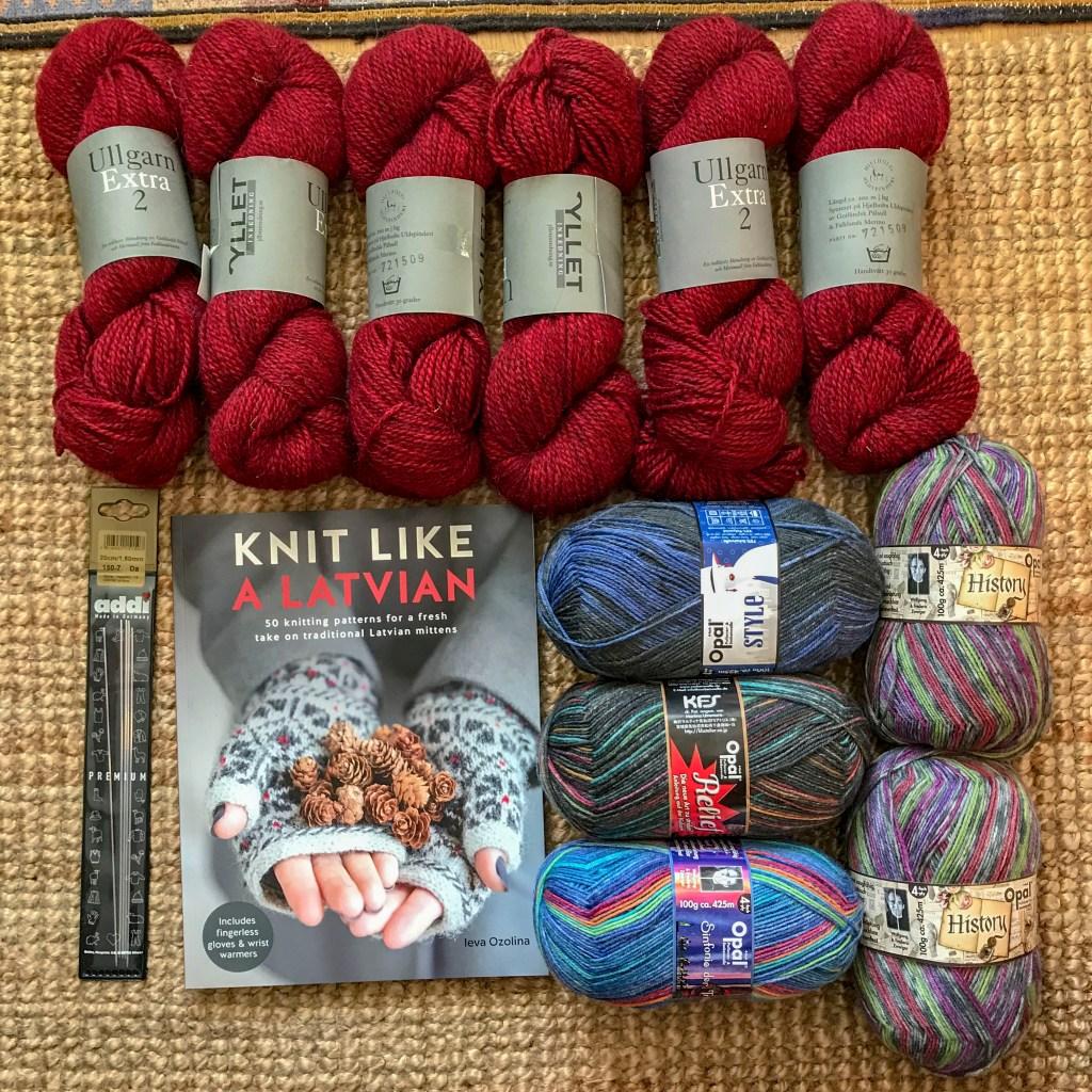 yarn, book, needles