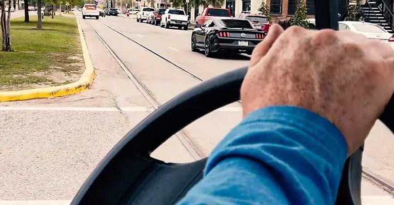 Driving the Golf Cart