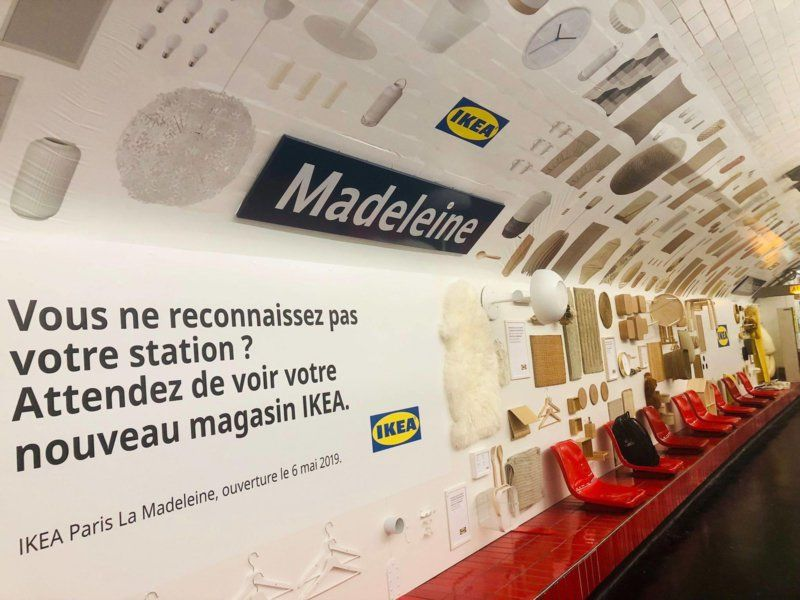 Ikea Ha Arredato La Metropolitana Di Parigi Con Il Suo