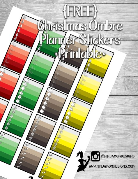 Free Christmas Ombre Cover