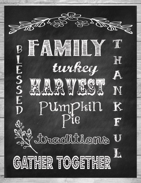 thanksgiving chalkboard cover