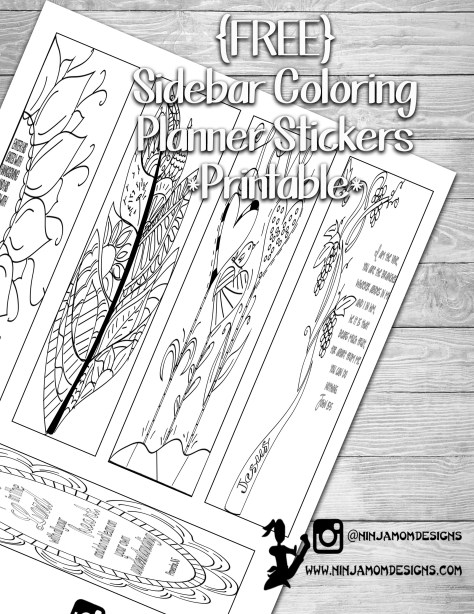 free sidebar coloring cover