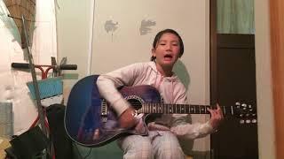 【あかね】365日の紙飛行機 ギター弾き語り (10歳) パート2