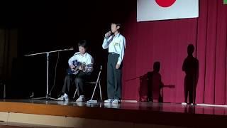 中学校文化祭(14歳)ONE OK ROCK弾き語り