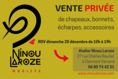 Vente privée 20 Décembre - Ninou LAROZE