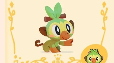 Grookey arrives as a special client at Pokémon Café Mix