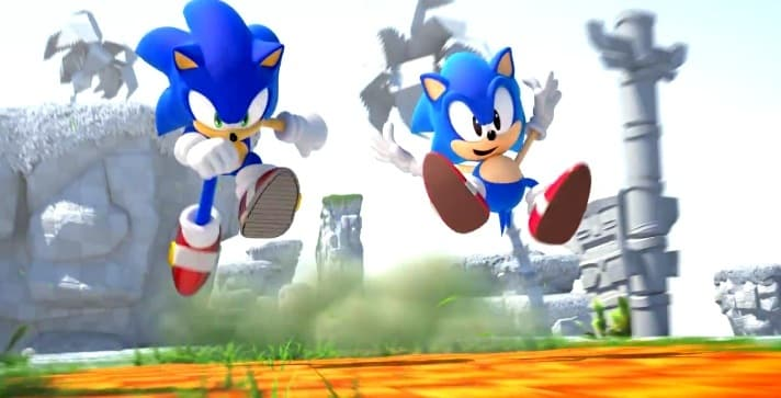 Sonic Generations Special Stage screens for Nintendo 3DS