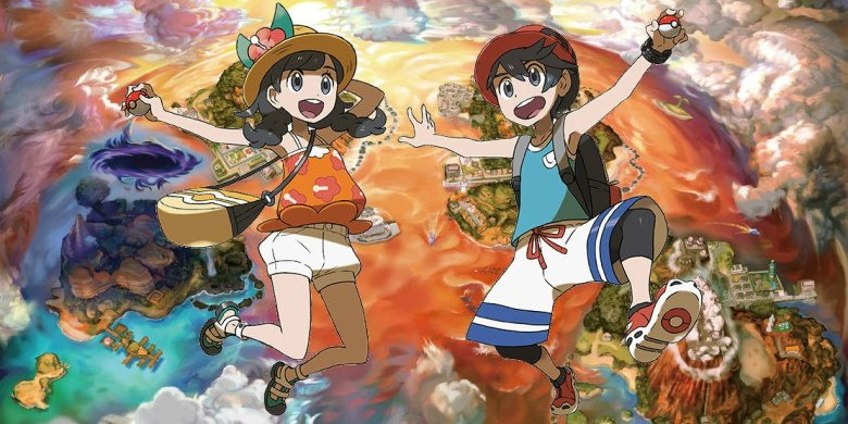 Pokemon Ultra Sun And Moon Hairstyles Clothing And Trainer