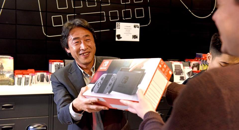 Satoru Shibata Nintendo Switch Launch