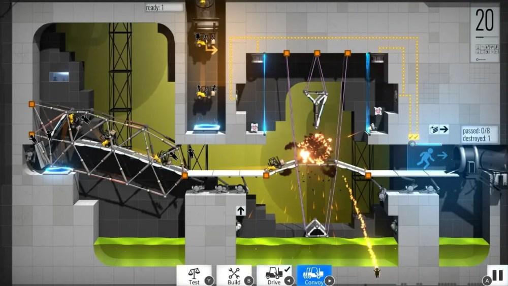 Bridge Constructor Portal Review Screenshot 2