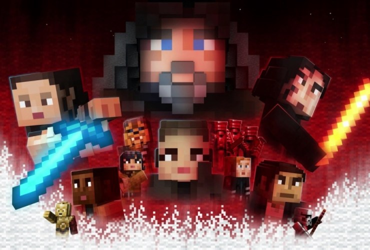 Minecraft Star Wars Sequel Skin Pack Artwork