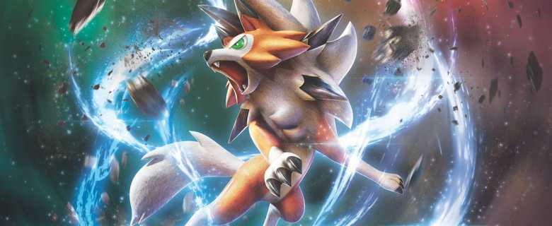 Pokemon TCG Sun And Moon Forbidden Light Lycanroc Dusk Form Artwork