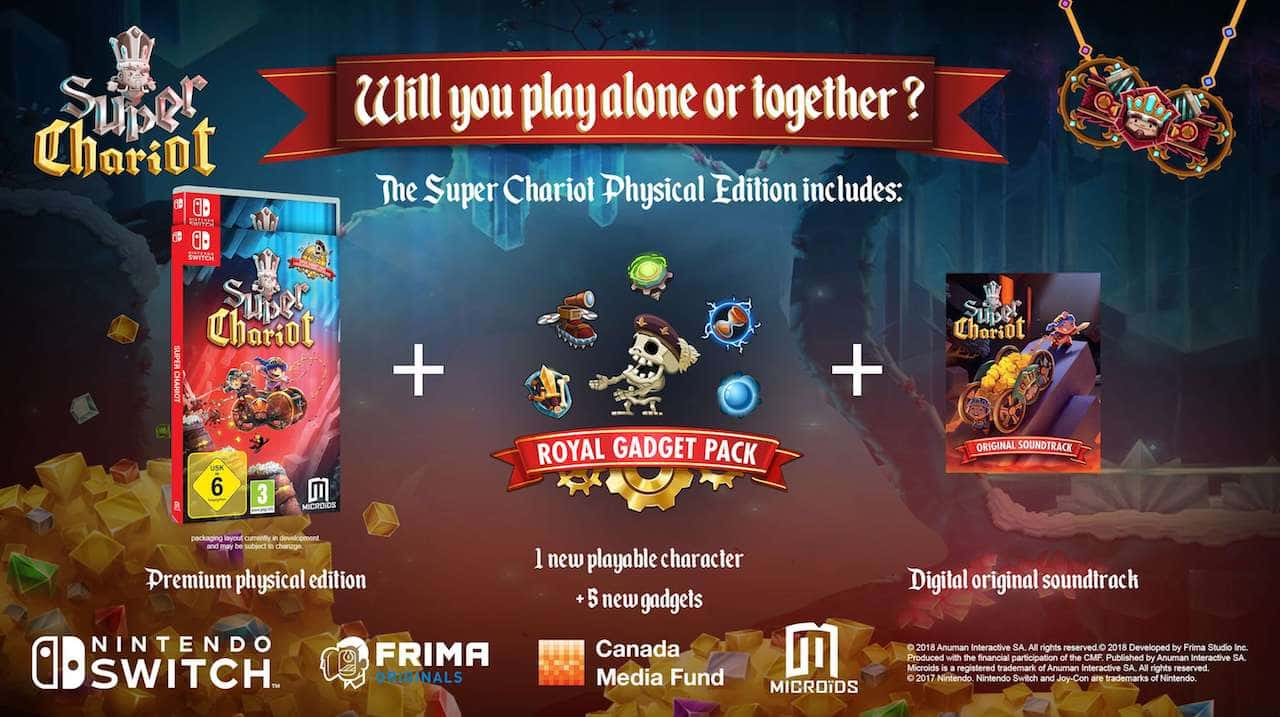 Frima Studio super chariot physical edition adds royal gadget pack and