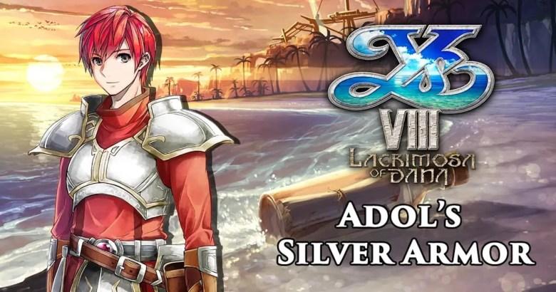 Adol's Silver Armor Ys VIII: Lacrimosa of DANA Artwork