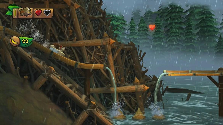 Donkey Kong Country: Tropical Freeze 2-4 Sawmill Thrill Screenshot
