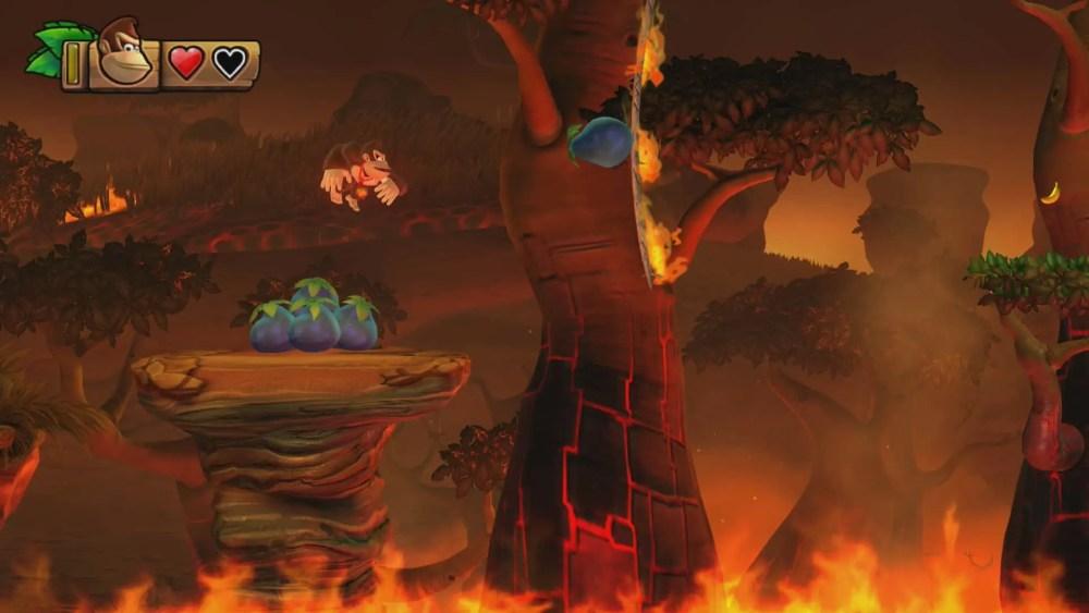 Donkey Kong Country: Tropical Freeze 3-4 Scorch N Torch Screenshot
