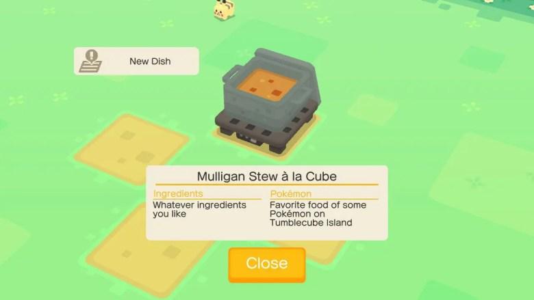 Pokémon Quest Recipes Screenshot