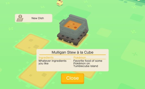 Pokémon Quest Recipes Screenshot