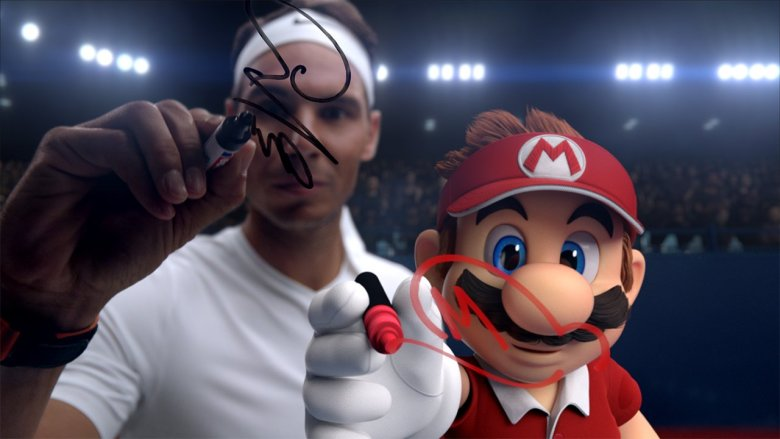 Rafael Nadal Mario Tennis Aces Screenshot