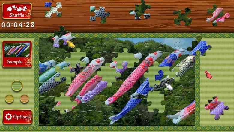 Animated Jigsaws: Beautiful Japanese Scenery Koinobori Screenshot