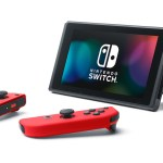 Red Nintendo Switch Console Tabletop Mode Photo