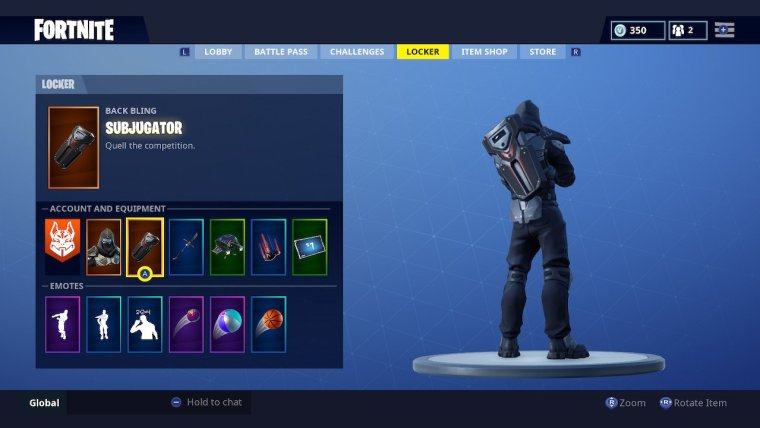Fortnite Subjugator Back Bling Screenshot