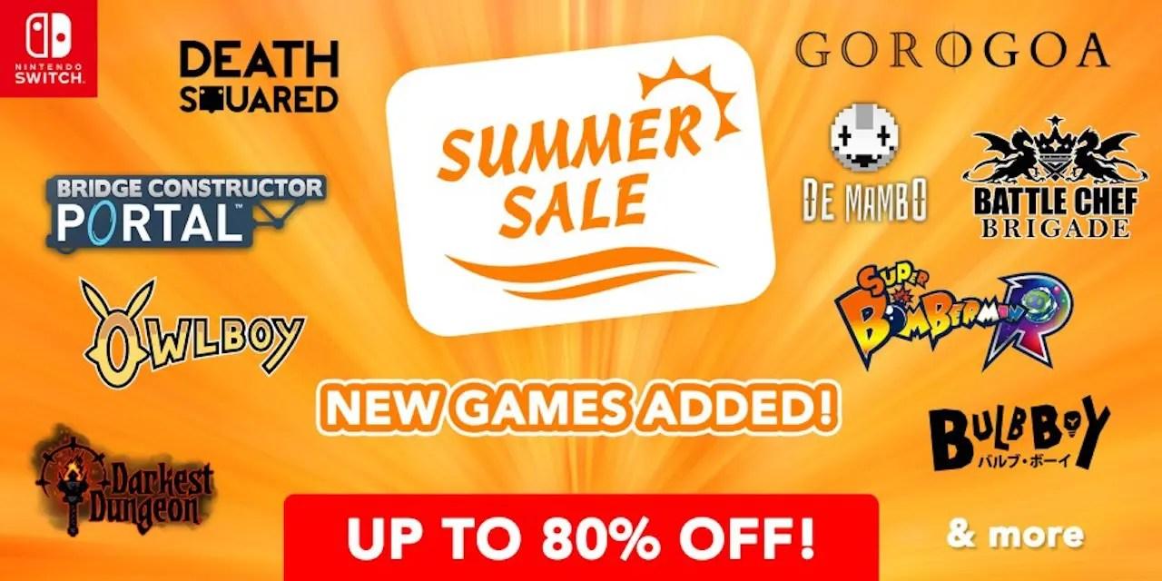Nintendo eShop Summer Sale Discounts 56 Nintendo Switch And