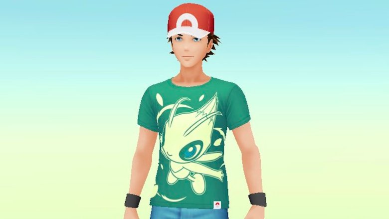 Pokémon GO Celebi Shirt Screenshot