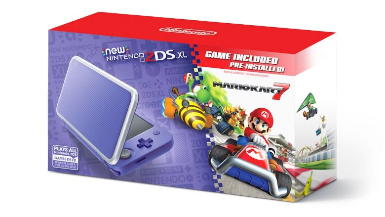 Purple + Silver New Nintendo 2DS XL