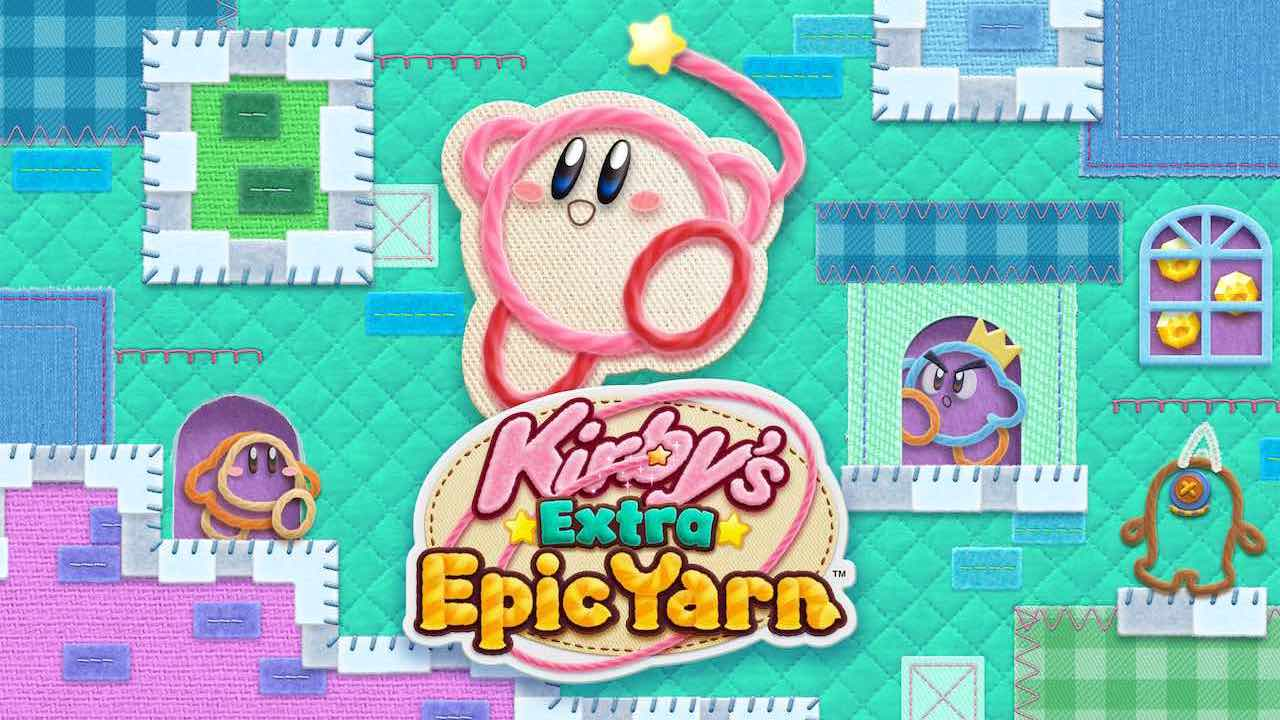 Kirby's Extra Epic Yarn Illustration
