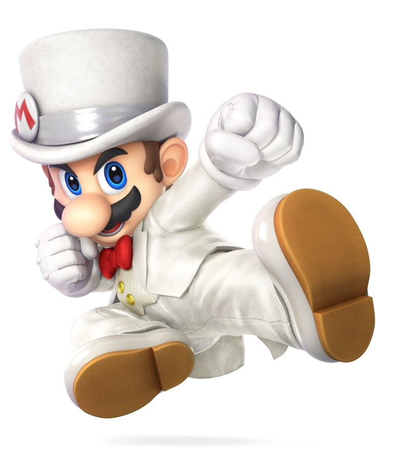 Mario Wedding Outfit Super Smash Bros. Ultimate Character Render