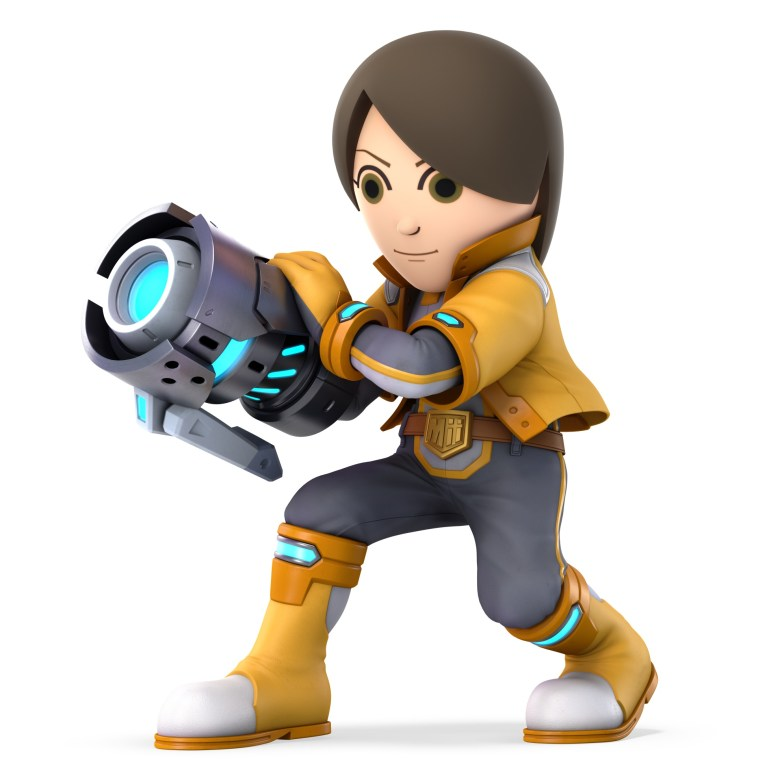Mii Gunner Super Smash Bros. Ultimate Character Render