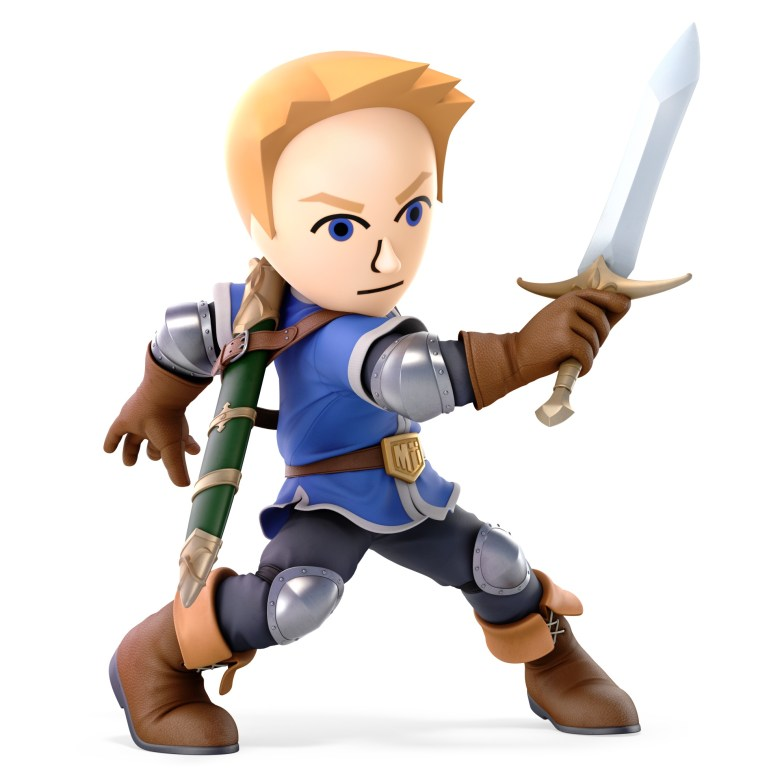 Mii Swordfighter Super Smash Bros. Ultimate Character Render