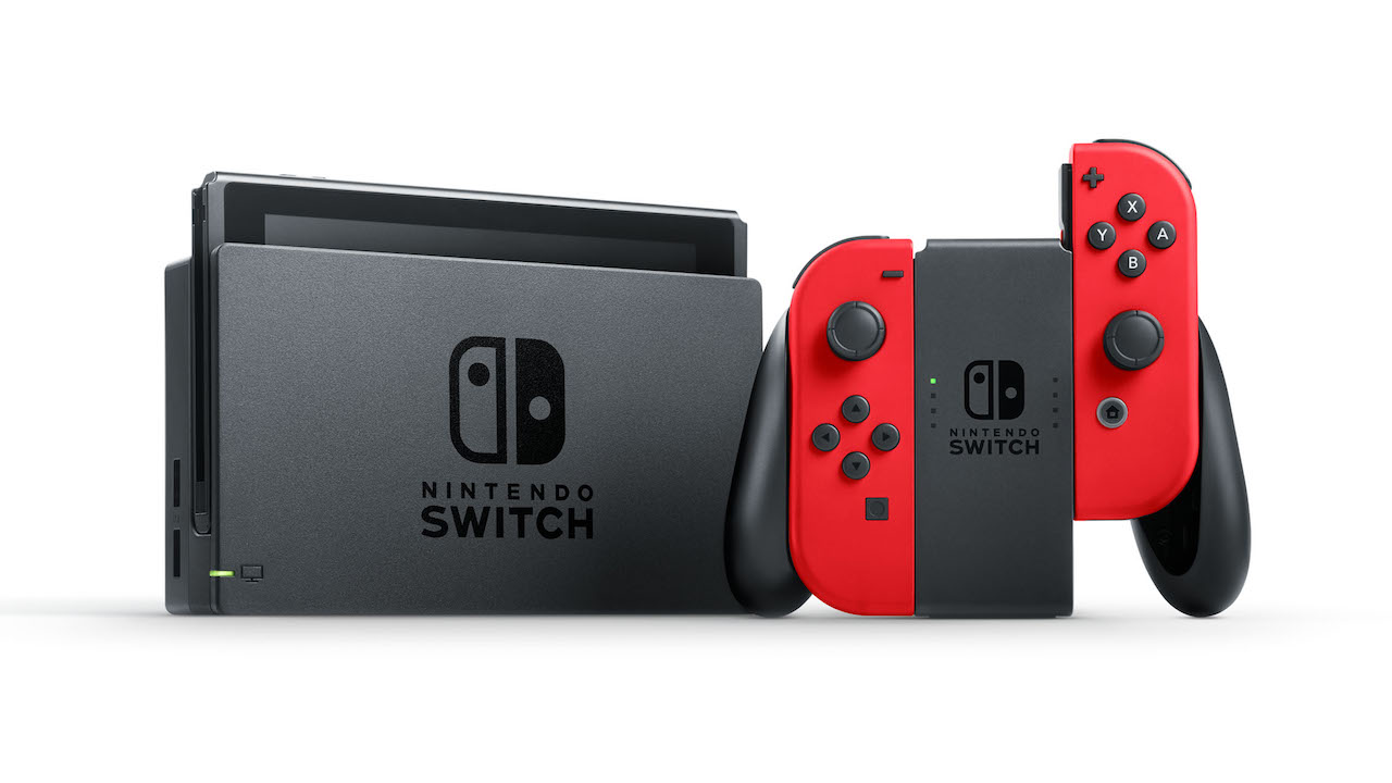 Red Nintendo Switch Console Photo