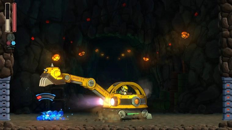 Mega Man 11 Pickman Digger Screenshot