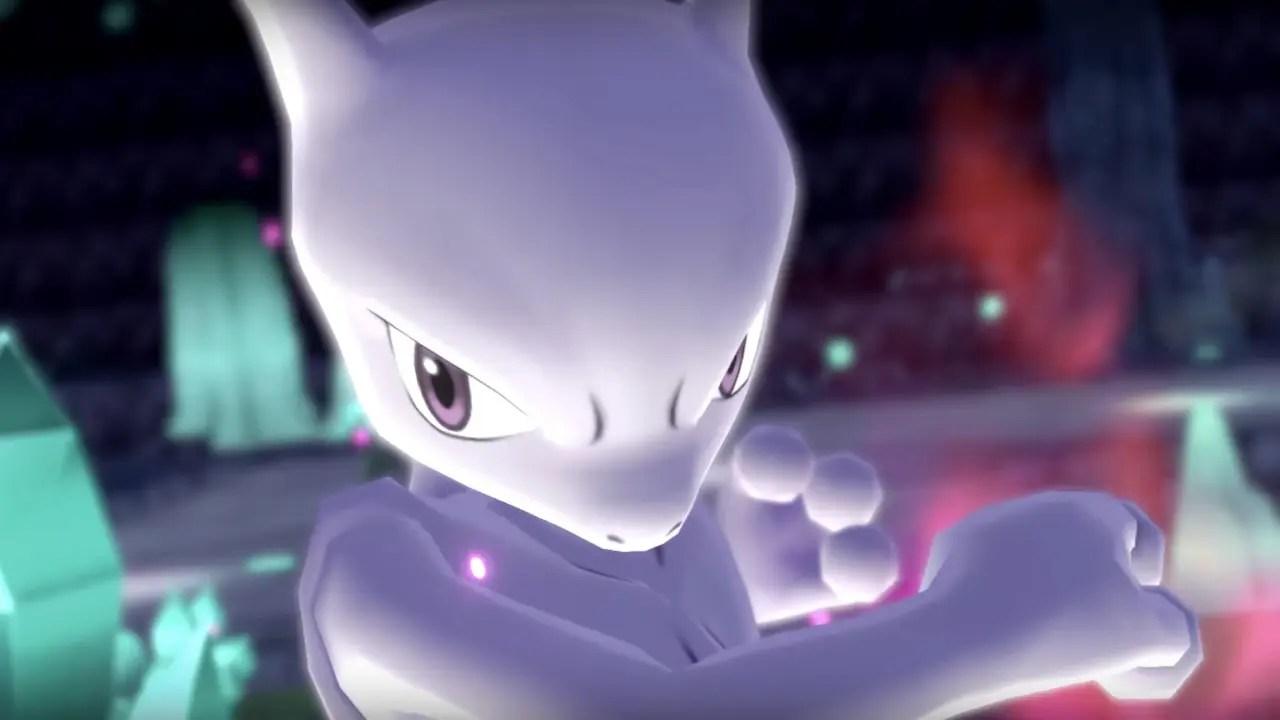 Mewtwo Pokémon Let's Go Screenshot