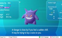 Pokémon Let's Go Trade Evolution Gengar Screenshot